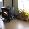 Photo of a pellet stove by USDA.gov/flickr.