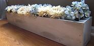 Modern flower trough by Christina's Adventures.