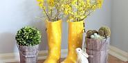 Rain boot vases by Ann@On Sutton Place via Hometalk.com.