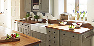 Kitchen cabinets with apron sink: ChalonHandmade/flickr