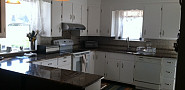Repainted cabinets to go with new countertops