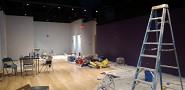 DURING Interior paint job in progress