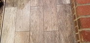 Faux wood tile