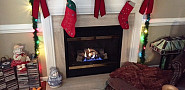 AFTER Gas fireplace ready for Christmas
