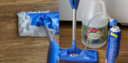 Here's my reusable rag hack and how I fill the Swiffer with vinegar.