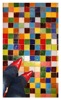 Colorful mosaic floor tile