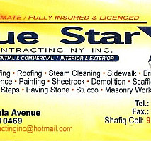Blue star business cards images card design and card template demolition business cards image collections business card template blue star contracting ny inc networx steps resurfacing colourmoves