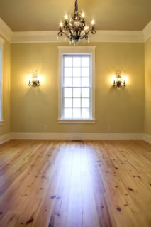 molding and baseboard in a room