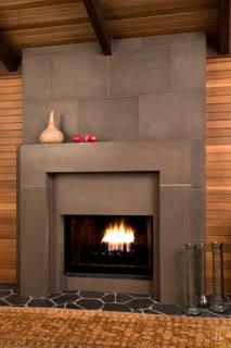 fireplace surrround- concrete