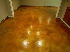 Concrete Flooring - Basement Stain - Fort Wayne