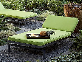 The Alyssa Canvas Macaw Green Chaise from Overstock.com