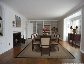 A virtually staged dining room by Virtually Staging Properties.