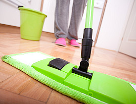 A Soft Dust Mop And Little Water Are All You Need To Clean Hardwood