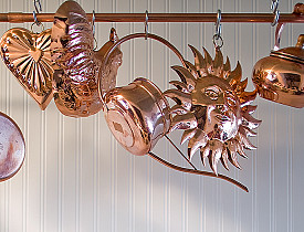 The author's own copper pipe rack.  Photo: Linda Merrill