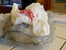 I thought San Francisco banned plastic bags. Where did you get this contraband, Adam? --Chaya