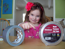 Use the foil tape, Dad!
