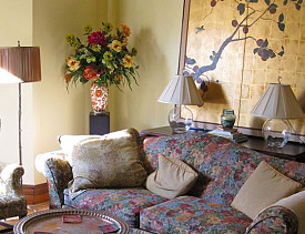 The wealth corner of my living room. --Ann Bingley Gallops/Open Spaces Feng Shui