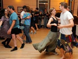 A contra dance at the Guiding Star Grange. Photo via Guidingstargrange.org.