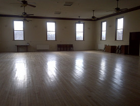 Inside the Guiding Star Grange in Greenfield, MA. Photo by Cris Carl.