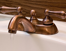 Beau Copper Bathroom Fixtures