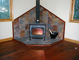 The author's own Jatoba soapstone wood stove.