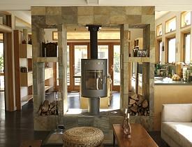 Modern trim in a remodeled Craftsman house.  Jeremy Levine Design/Flickr.