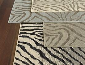Zebra Belgique Indoor/Outdoor Rug from Ballard Designs via BallardDesigns.com