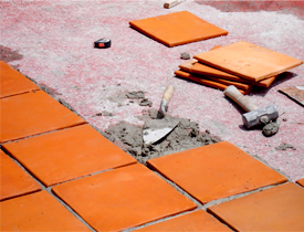 unglazed quarry tile