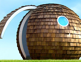 A Garden Office pod by Archipod (via Archipod.com)
