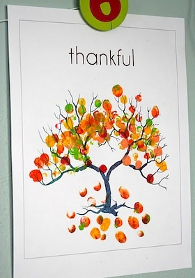 This is the Thankful Thumbprint Tree as posted by The Crafty Crow.