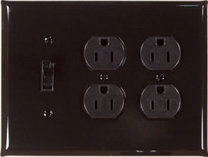 black Arnev outlet and switch plate
