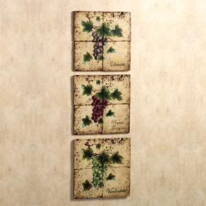 Grape clusters wall tile