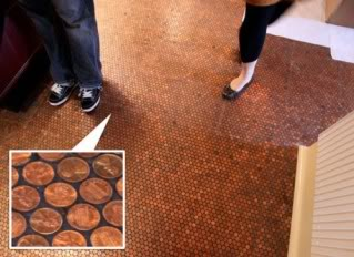 Penny floor tile