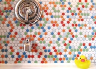 Creative shower tiles