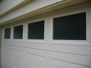 close up garage windows