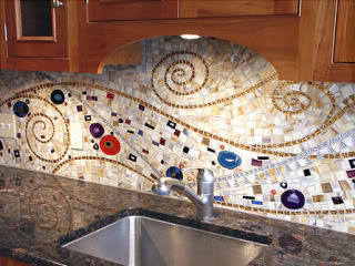Colorful backsplash design