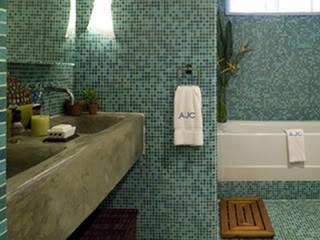 Glass bathroom wall tile