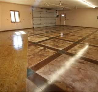 Luxuryhousingtrends A Stained Concrete Garage Floor By Specialeffex