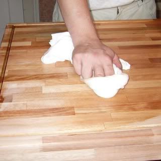 mineral oil on wood