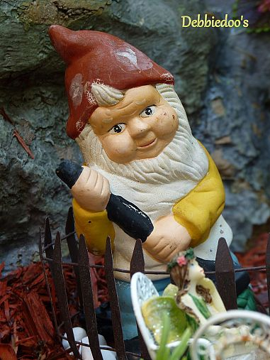 Photo of garden gnome by Debbiedoo's via Hometalk.com.