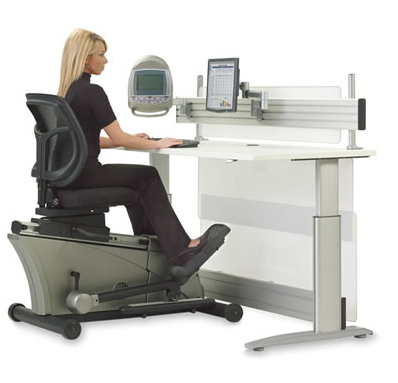 The Elliptical Bike Desk Chair Via Hammacher