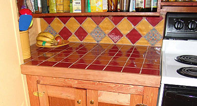 Wood edged tile