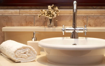 sink, soap and towel