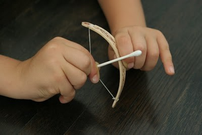 The Mini Bow and Arrow as posted by The Brooding Hen.