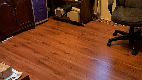 New laminate floor install by pro