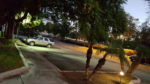 AFTER Parking lot lighting system restored