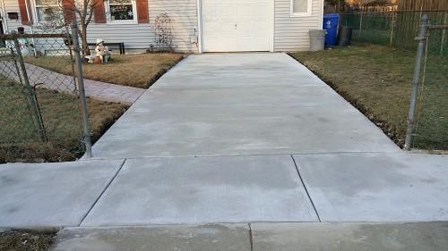 Smooth new sidewalk install