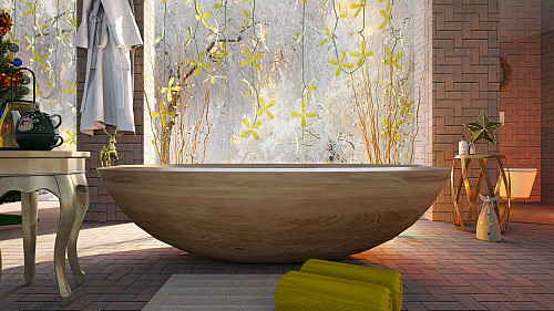 Freestanding tub by DarthZuzanka/pixabay