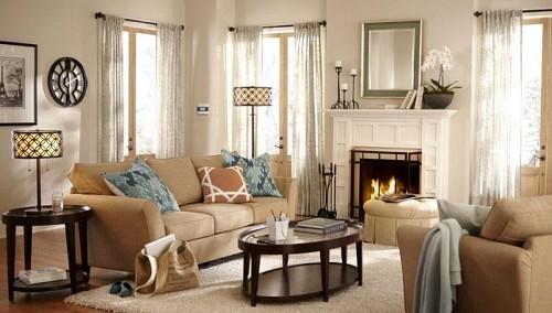 Living room lighting/courtesy of Lowe's