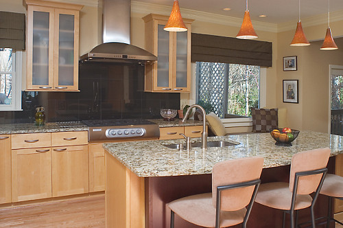 Photo of a contemporary kitchen in beige tones and remodel by AK Complete Home Renovations via Hometalk.com.